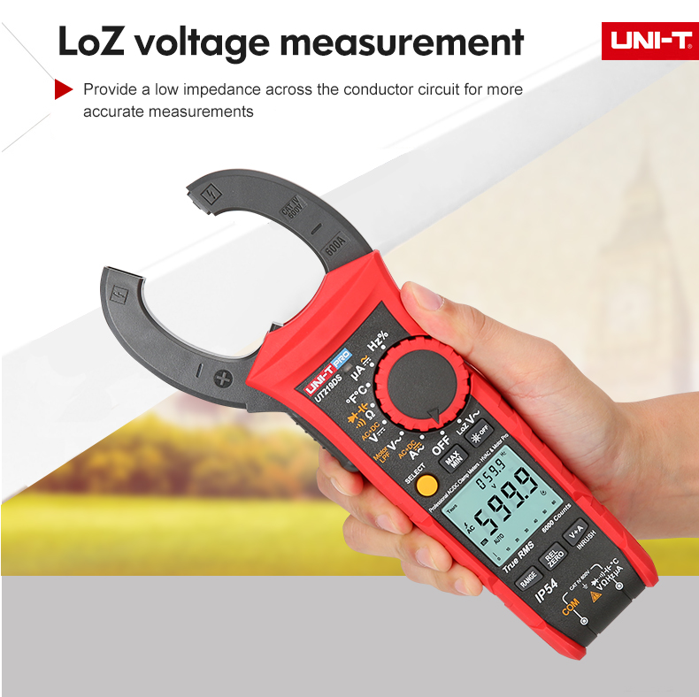 Tools : UNI-T Professional Digital Clamp Meter 1000V AC DC UT219 Series True RMS Auto Power Off 3 Phase Motor Sequence Test Inrush