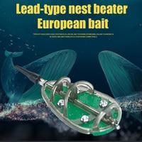 3 unids/set método en línea alimentadores de pesca de carpa 30/40/50g Set de moldes YA88