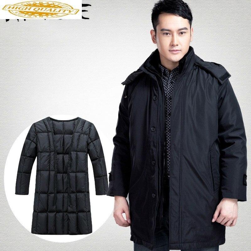 Winter Coat Men Men's Down Jacket Plus Size White Duck Down Coat Puffer Jacket Warm Parka Doudoune Homme 81 YY1331