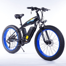 SMLROElectric Bicycle 26inch 48V 13Ah E-Bike Lithium Battery 350W 7 Speed Fat Tire Mountain Snow Electric Bike with Disc Brake mountain bike fat 48v 500w samsung lithium battery electric bicycle 10 an large capacity 27 speed 26 x 4 0 electric snow bike