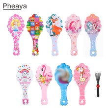 Pheaya Baby Cartoon Print Comb Anti-static Princess Comb Reduce Hair Loss Multifunctional Styling Tool Massage Hair Brush