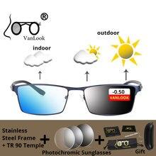 Anti Blue Ray Myopia Computer Glasses Photochromic Sunglasses