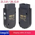 2021 Popolar HEX V2 Obd2 сканер VAGCOM 21.3.0 VAG COM 20,12 для VW AUDI Skoda Seat ATMEGA162 + 16V8 + FT232RQ