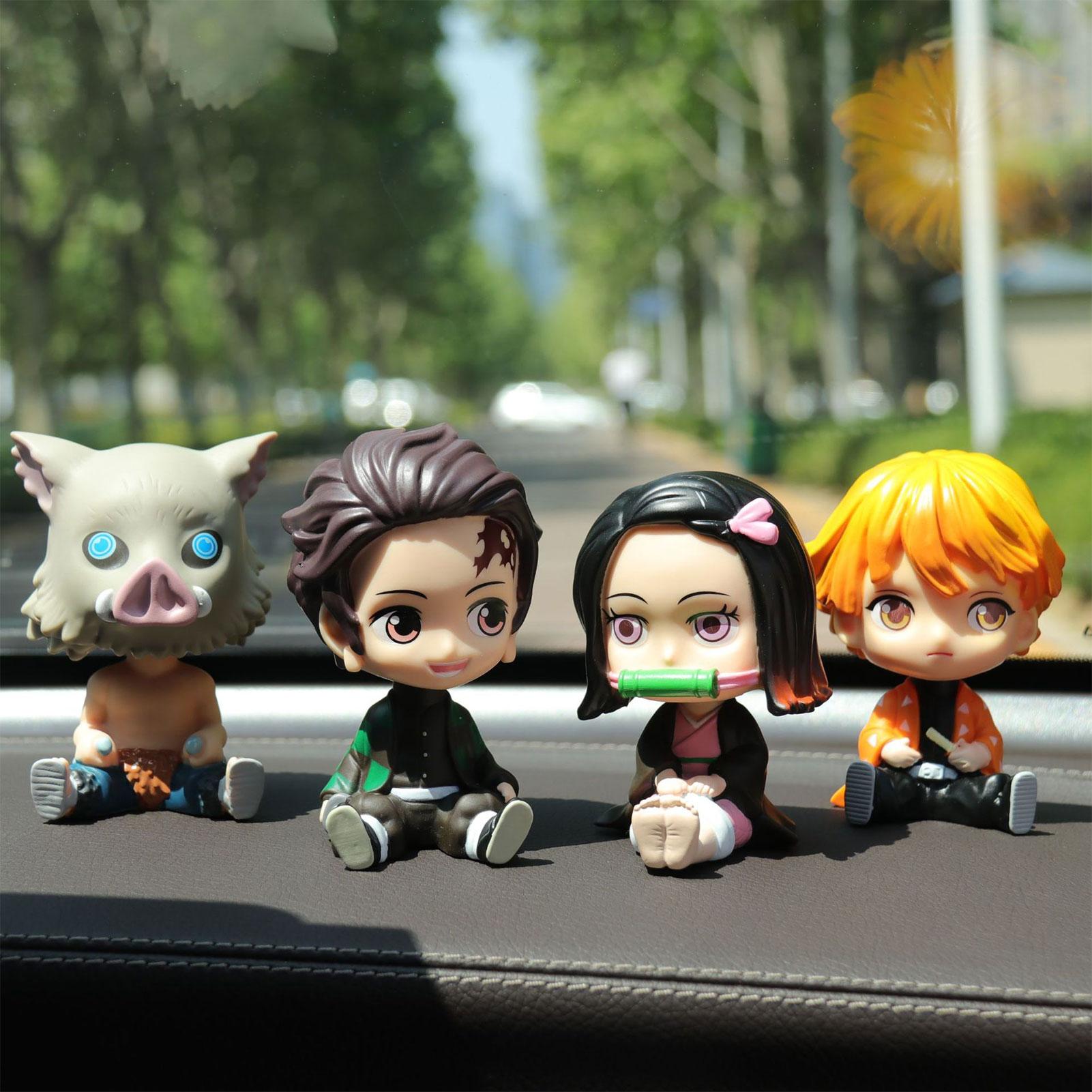 Modelo de Personaje de Anime para decoración de coche, figura innovadora, adorno para salpicadero de coche, modelo de Personaje de Anime, juguete para niños, regalo