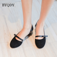 BYQDY Sweet Lolita Pumps Mary Jane Shoes Woman Flock Bow Thick Med Heels Round Toe Block Heels Shoes Women Cosplay Large 41-43 women s velvet med heel comforable mary jane pumps brand designer round toe spring new female cute footwear shoes for women sale