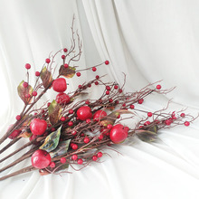 Artificial Berries Branch Floral Foam Simulation Fruit Autumn Home Wedding New Year Christmas Festival Decorative Fake Plants