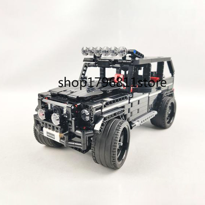 <font><b>701960</b></font> 1343pcs Technic Series G500 Mercedesal-benzg Big G Set Building Blocks Bricks Children's Christmas gift image