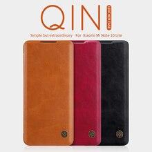 Voor Xiaomi Redmi Opmerking 9 Pro Flip Case Note 10 Lite Behuizing Nillkin Qin Smart Wake Up Wallet Case Voor redmi Note 7/8 Leather Cover