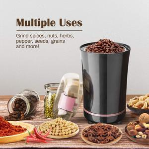 Image 2 - YAJIAO Coffee Machine Electric Grinder Bean Spice with Stainless Steel Blade Detachable Power for Coffee Beans Grounds Grains