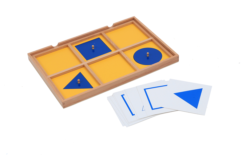Geometric Demonstration Tray W/ Cards Montessorial Sensorial Materials Visual Sense Exercise To Learn Shape Early Education Toys