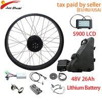 26''4.0 Fat Bike Electric Bike Conversion Kit 48V 1000W Snow Beach Bike Bicycle Rear Motor Wheel E Bike Kit Bicicleta Electrica