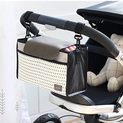 Stroller Organizer For Diaper Clothes Towels Straps Hanging Bag Portable