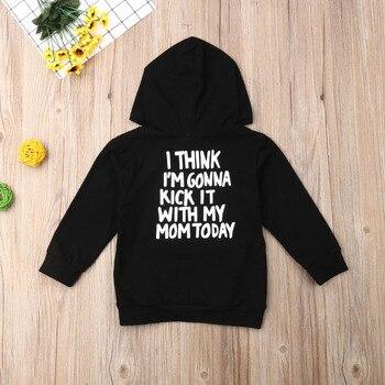 1-6Y Kids Baby Boy Girl Long Sleeve Back Letter Print Hooded Sweatshirt Hoodies Tops Autumn Clothes 5