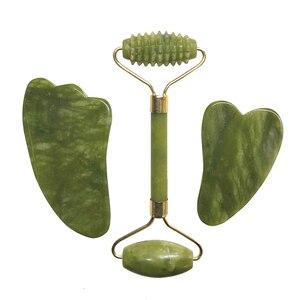 Natural Jade Roller Set Facial