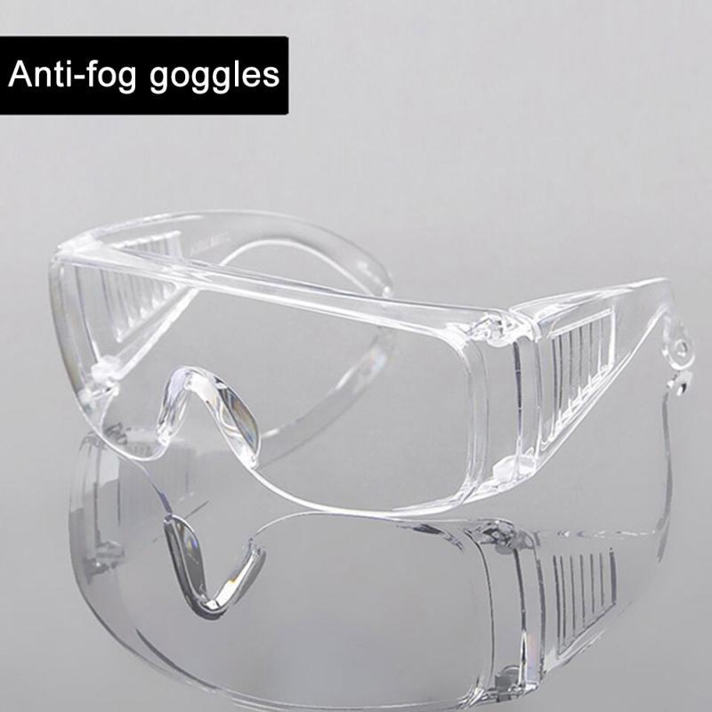 Claro ventilado óculos de segurança proteção para os olhos anti nevoeiro óculos anti poeira óculos de proteção equipamentos da motocicleta