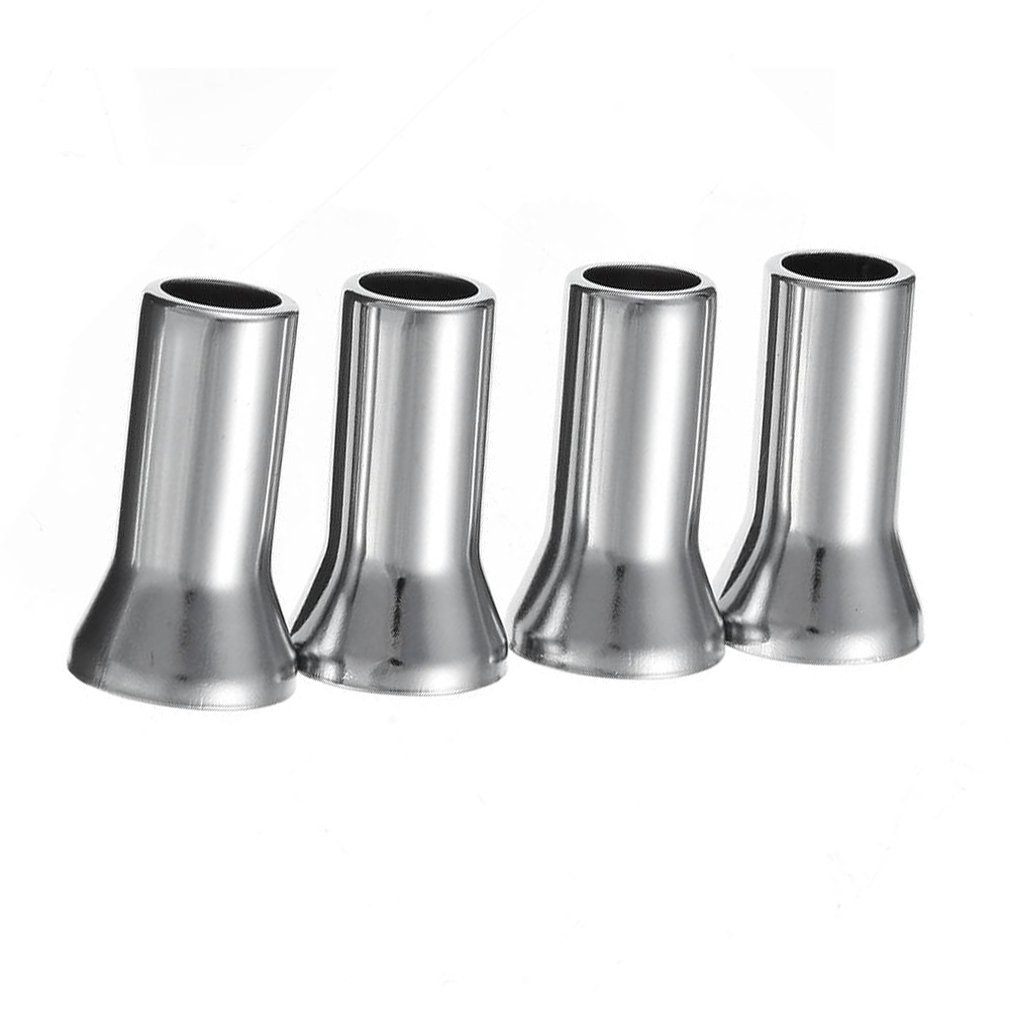 4PCS/Lot Chrome Alloy Plastic Caps Universal Silver Wheel Tyre Valve Caps Stem Dust Cover Airtight Cover