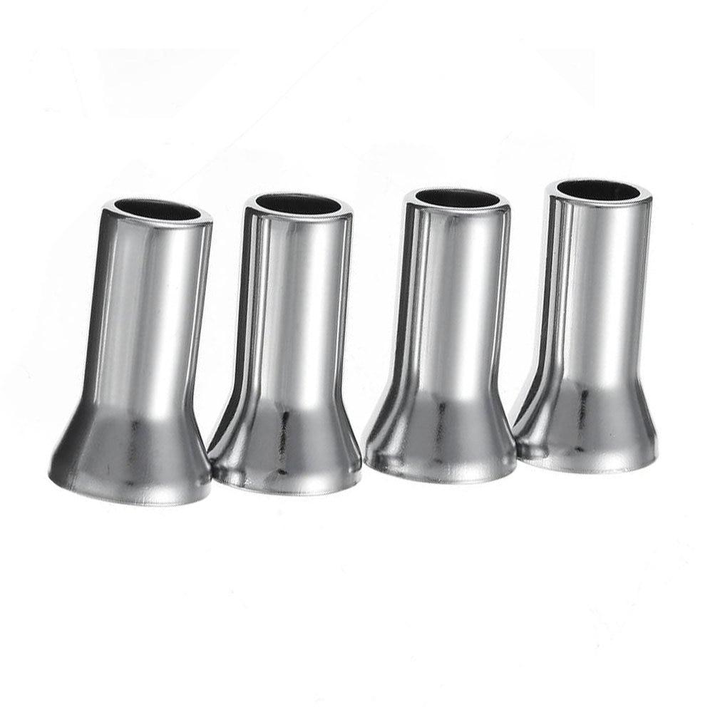 4PCS/Lot Chrome Alloy Plastic Caps Universal Silver Wheel Tyre Valve Caps Stem Dust Cover Airtight Cover