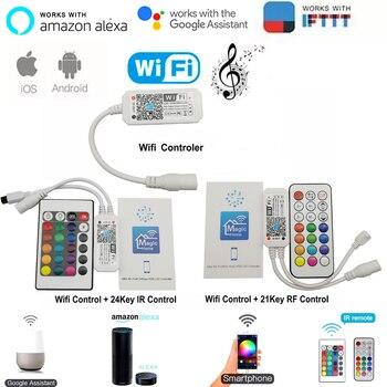 Magia casa Bluetooth Wifi RGB RGBW RGBWC tira de LED controlador teléfono inteligente aplicación de Control de RF/Control Remoto IR Alexa Control por voz de Google