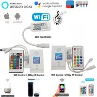 Magie Hause Bluetooth Wifi RGB RGBW RGBWC LED Streifen Controller Smartphone APP Control RF/IR Remote Alexa Google Stimme control-in RGB-Controller aus Licht & Beleuchtung bei