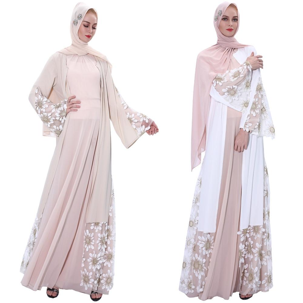 Kaftan Dubai Abaya Kimono Hijab Muslim Dress Women African Saudi Arabic Turkish Dresses Caftan Qatar Islamic Clothing Cardigan