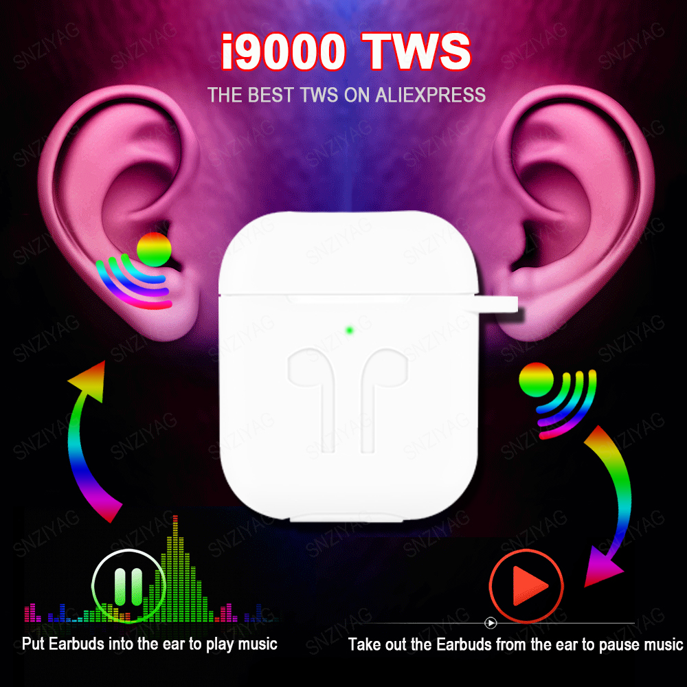 SNZIYAG i9000 TWS Smart Sensor Pop-up Wireless Earphone 8D Super Bass Bluetooth 5.0 Earphones i9000tws Earbuds PK i500 i5000 TWS image