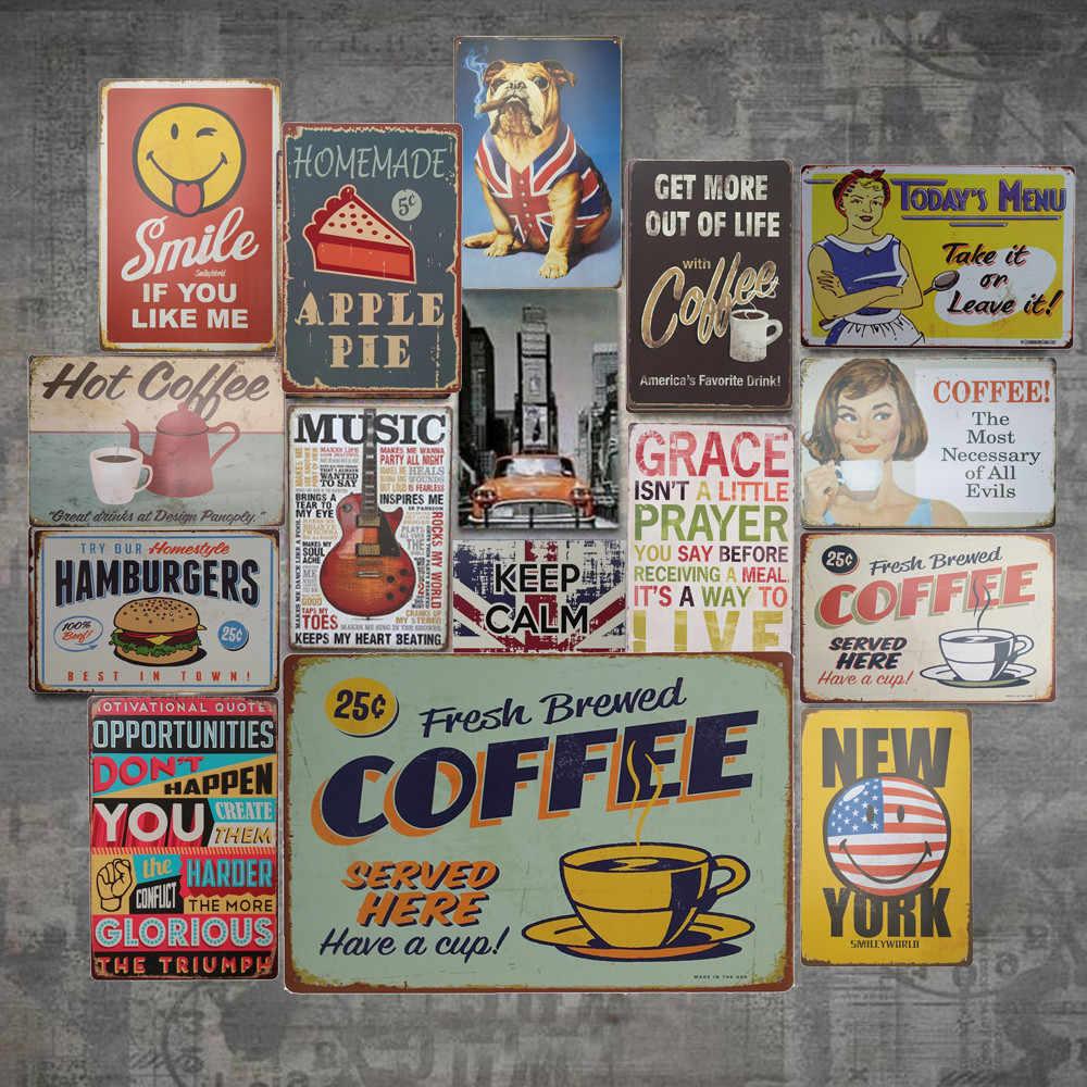 خمر معدن القصدير تسجيل بطاقة الزخرفية بار حانة نادي مقهى لوحة المنزل جدار فن الديكور لوحة معدنية Vintage حانة المنزل الحلو