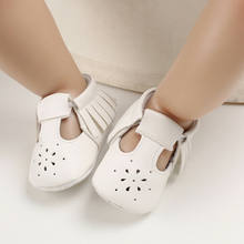 Newborn Baby Girls Boys Kids infant Toddlors First Walker Tassel Sneakers Soft Sole Crib Shoes Prewalkers(China)