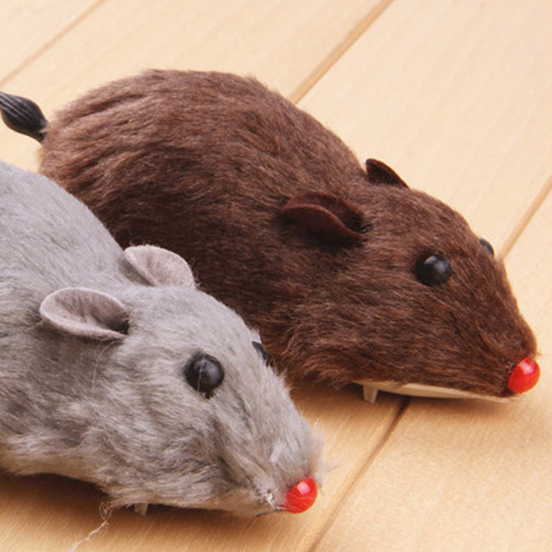 Strange New Creative Trick Model Toy Stall Hot Selling Plush Winding Spring Mouse Hamster