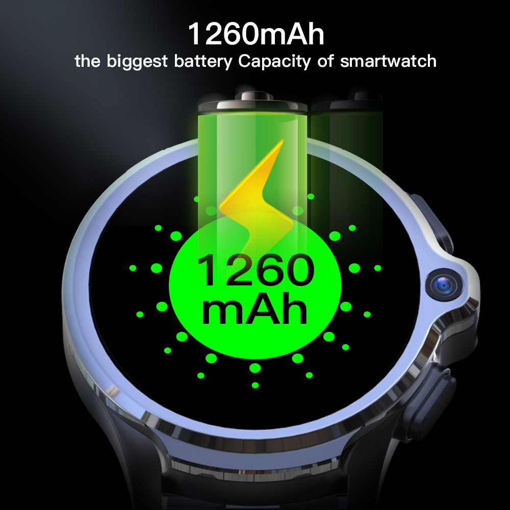 Top SaleKOSPET Smart-Watch Battery GPS Dual-Cameras Unlock Sports with 4G 1260mah/Battery/Face-id/Unlock
