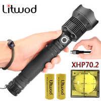 Led Taschenlampe Batterie Laterne Taschenlampe Cree Neue Original 2*18650 Oder 26650 Stoßfest, harte Verteidigung Lampen Xhp70(7mm)