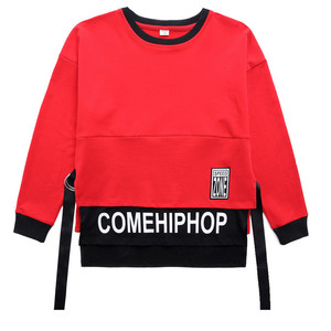 Image 5 - Spring 2019 baby clothes for boys Long Sleeve childrens costume for Baby Boys girls hip hop Jazz Dance Costume t shirt for kids