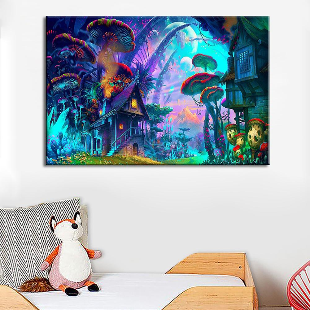 Ss-LqlhyBeautiful Purple Forest Canvas Painting Poster Wall Picture Living Room Decor