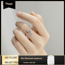 Thaya ליל הקיץ חלום עיצוב טבעות בציר צבעוני פניני S925 סטרלינג כסף תכשיטי טבעת לנשים