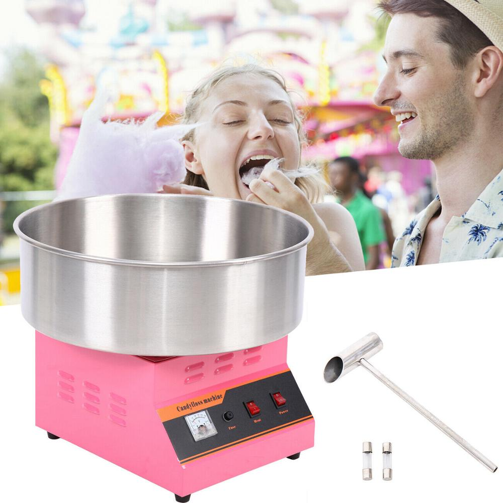 Yonntech 1300W  Electric Cotton Candy Fairy Floss Supply Maker Machine Commercial Pink Portable Cotton Candy Machine