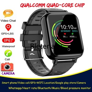 Image 1 - 4G Childrens smart watch  Android 6.1 phone kids Elder Heart Rate SmartWatch Voice Recorder Monitor with Sim Card wifi watches