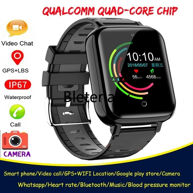 4G Childrens smart watch  Android 6.1 phone kids Elder Heart Rate SmartWatch Voice Recorder Monitor with Sim Card wifi watches