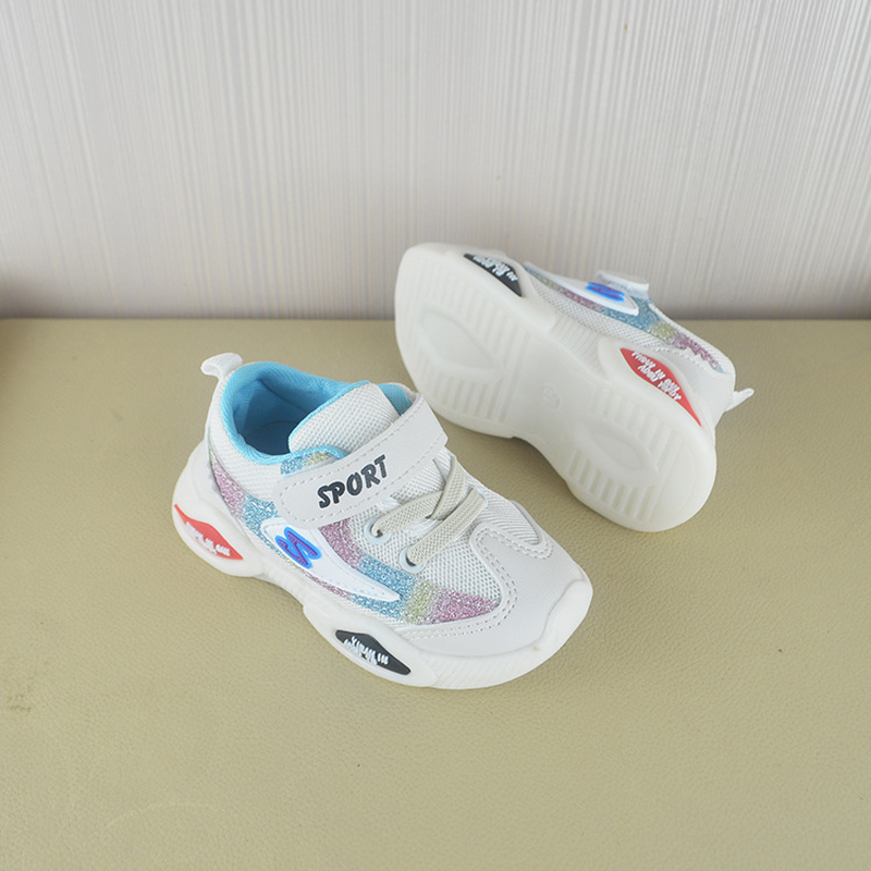 Baby shoes Fall 2019 New Kids Shoes Leisure Soft Bottom Slip proof Korean Version Breathable Mesh Fashion Baby Walking Shoes in First Walkers from Mother Kids