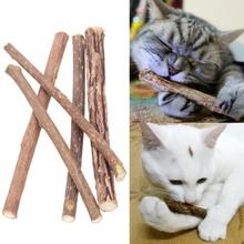 10/15/20pcs Pure Natural Catnip Pet Cat Toy Molar Toothpaste Branch Cleaning Teeth Silvervine Snacks Sticks Supplies