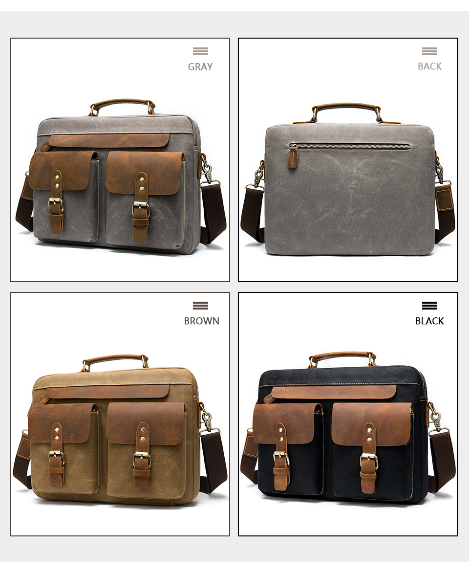 H0782287d84194f2484cf5da7489f731cz WESTAL Men Briefcases Men's Bag Genuine Leather Business Office Bags for Men Laptop Bag Leather Briefcases Male Lawyer Bags