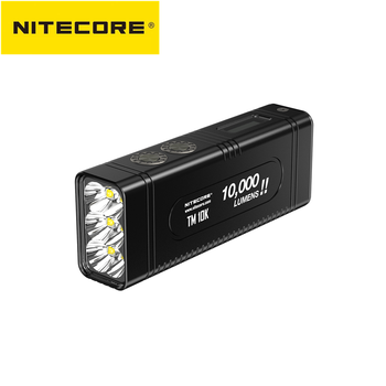 new nitecore handle mount kit nhm20 for monster tiny series tmc16tm16gt travel flashlight assembly original accessories NITECORE TM10K flashlight max 10,000 lumen Tiny Monster Rechargeable 6 CREE XHP35 HD LED screen throw 288 meter Type C charger