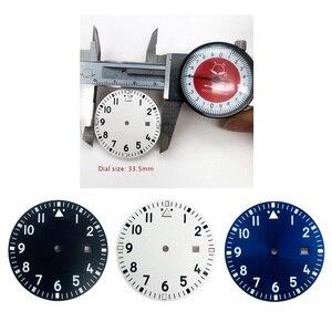 33.5mm zegarek wybierania płyty dla Miyota automatyczne maszyny ruch 8215 8200 2836 2813 2824 wymiana zegarek twarze akcesoria