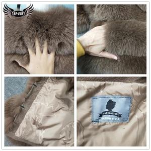 Image 5 - ผู้หญิงธรรมชาติจริงFoxขนสัตว์Winter Outwear 50ซม.ยาวWholeskinของแท้Fox Fur Jacketผู้หญิงเสื้อขนสัตว์เสื้อคลุมสั้น