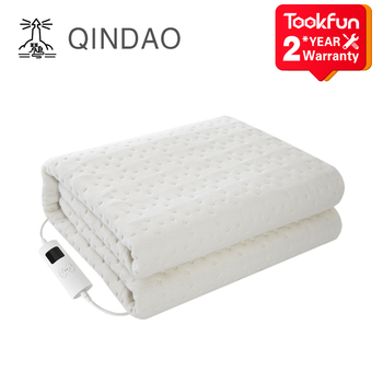 QINDAO QD Smart electric heater washable single heating pad mattress remove mite blanket control time temperature - discount item  18% OFF Household Appliances