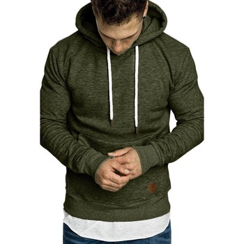 Men's Hoodies Men's Long Sleeve Autumn Winter Casual Sweatshirt Hoodies Top Blouse Tracksuits Мужские Комплекты 1