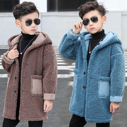 2019 mode Winter Kinder Jungen Faux Pelz Jacken Mantel Kinder Jungen Plus Verdicken Warme Fleece Samt Oberbekleidung Teenager Kleidung 06