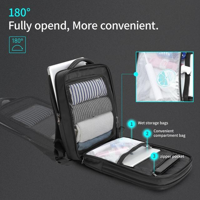 Business Travel Travel bags Waterproof Laptop Backpack