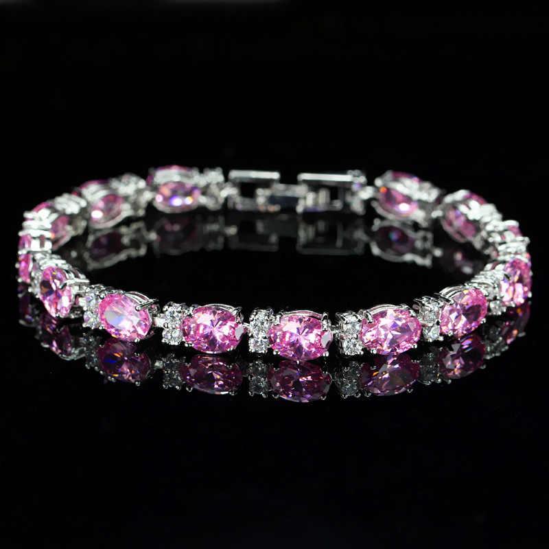 Wong Rain Bohemian 100% 925 Sterling Silver Emerald Sapphire Ruby Amethyst Gemstone Bangle Charm Bracelet Fine Jewelry Wholesale