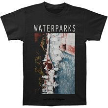 Men T shirt Fashion Cotton Shirt Waterparks Ghost Pool Party Personality funny t-shirt novelty tshirt