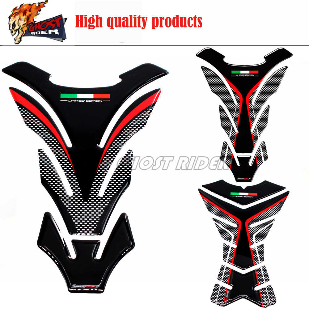 Carbon Fiber Tank Pad Protector Sticker 3D Motorcycle Decal For Kawasaki Honda