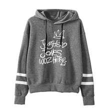 LISCN 2019 American drama River Valley town letter printing plus velvet men and women hoodie sports loose coat autumn winter